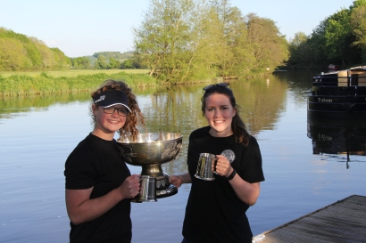 Zoe & Amy With the trophy